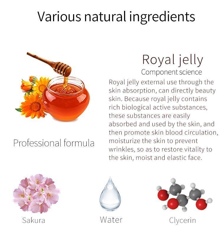 Royal Jelly + Cherry Blossom Facial Essence Mask-3