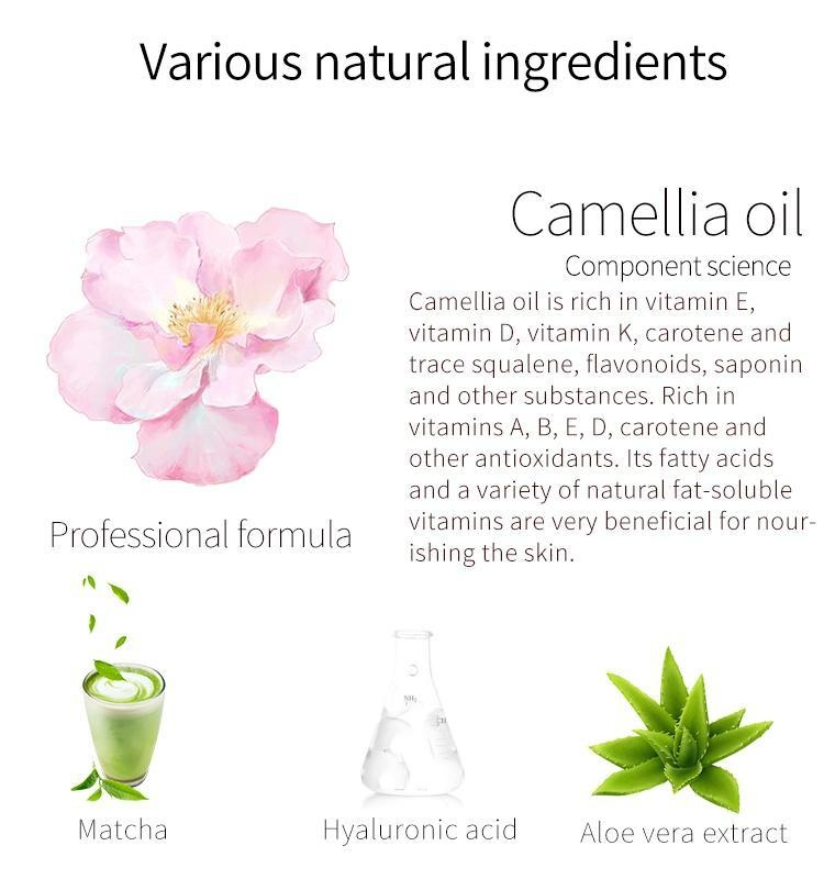 Camellia + Matcha Facial Essence Mask-3