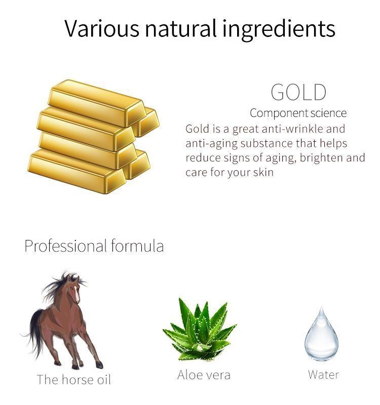 Gold + Horse Oil Elasticity Black Facial Mask-3