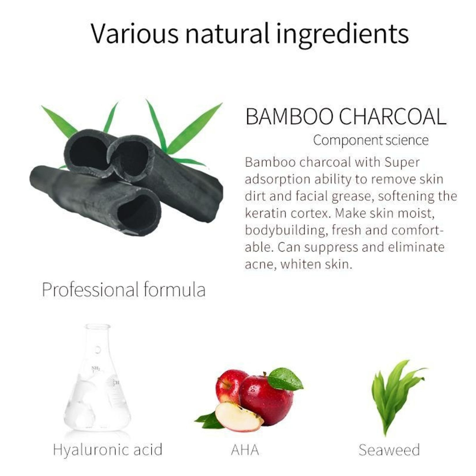 MITOMO Charcoal Pore Control Face Mask