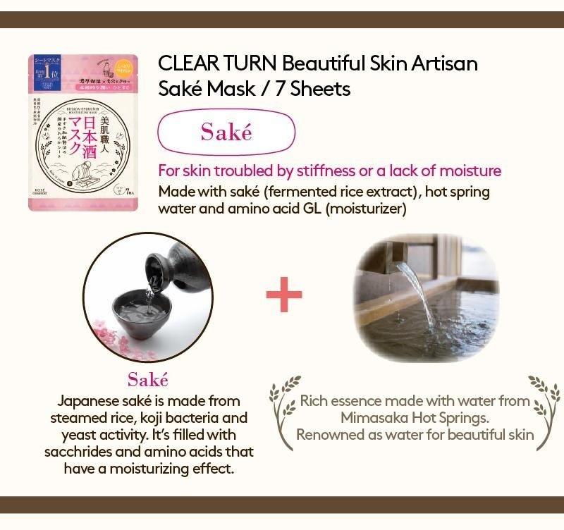 Clear Turn Sake Moisturizing Mask (7 pcs)-2