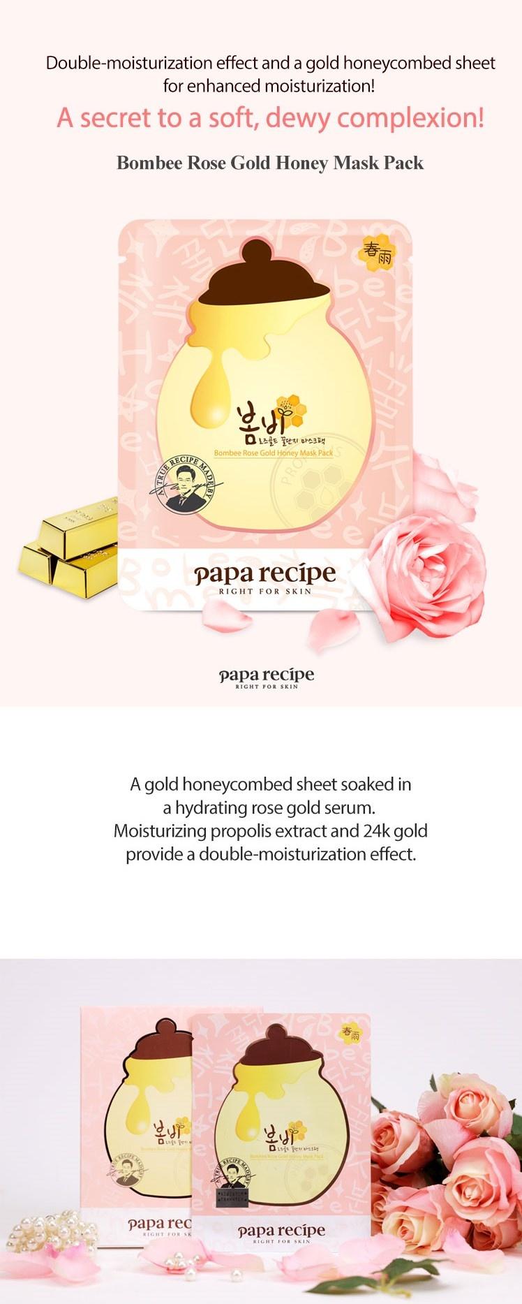 Bombee Rose Gold Honey Mask-2