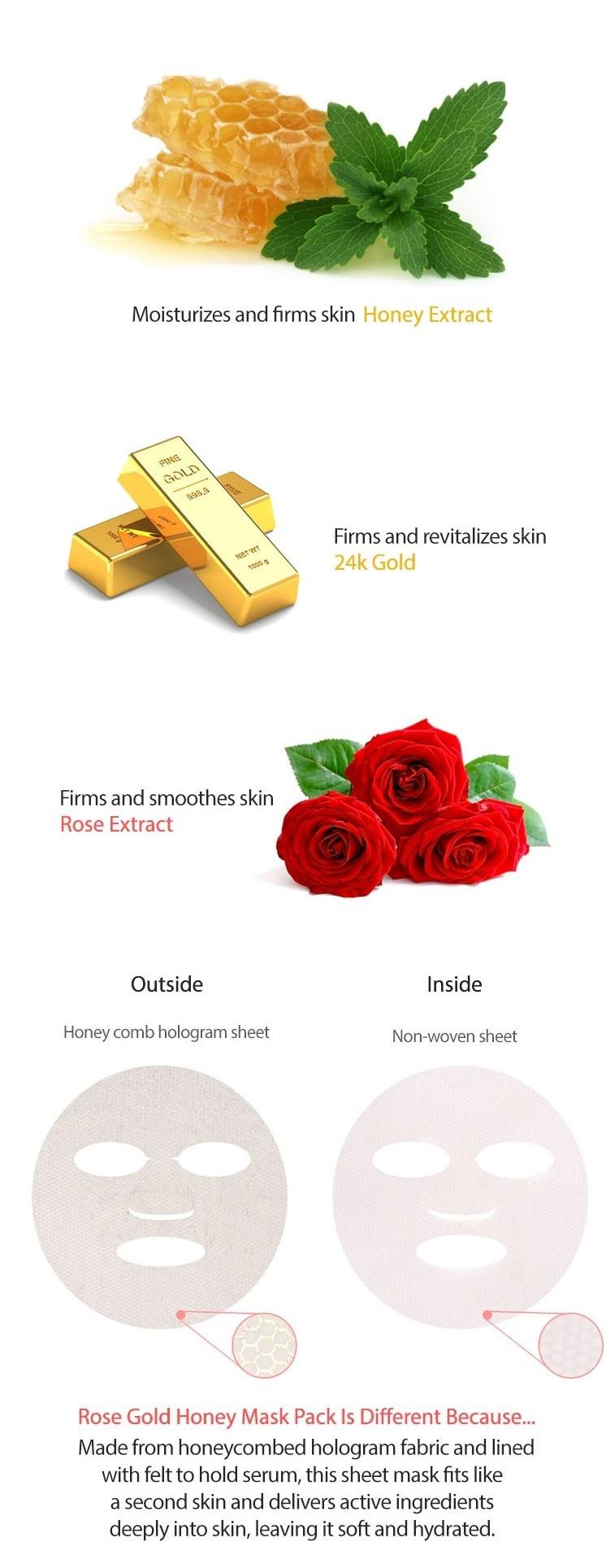 Bombee Rose Gold Honey Mask-3