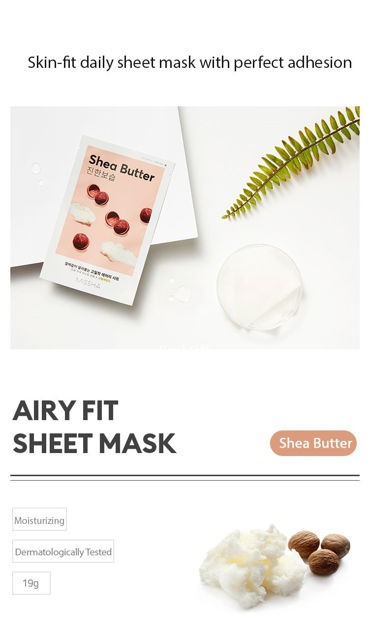 Airy Fit Sheet Mask Shea Butter-2