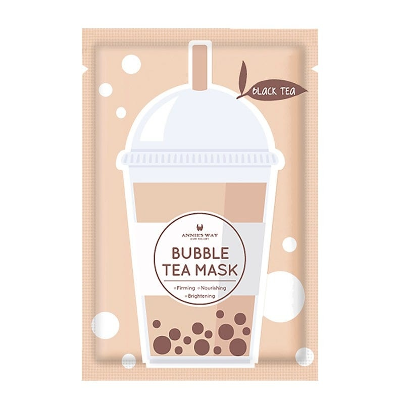 Black Tea Bubble Tea Invisible Silk Mask-1