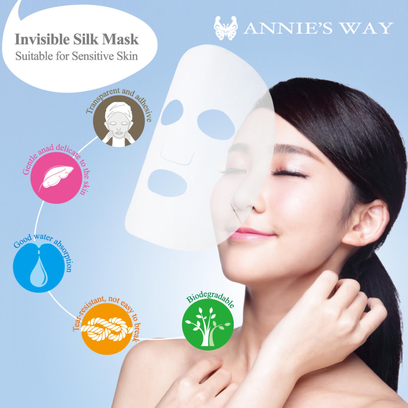 Annie's Way Black Tea Bubble Tea Invisible Silk Mask