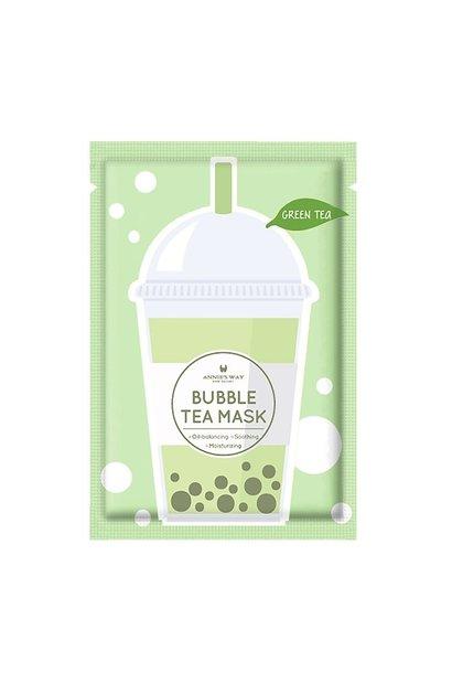 Green Tea Bubble Tea Invisible Silk Mask