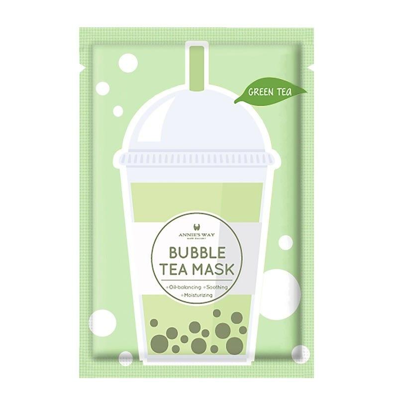 Green Tea Bubble Tea Invisible Silk Mask-1