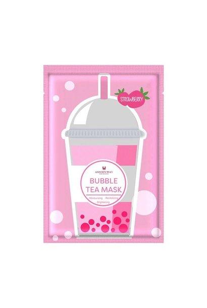 Strawberry Bubble Tea Invisible Silk Mask