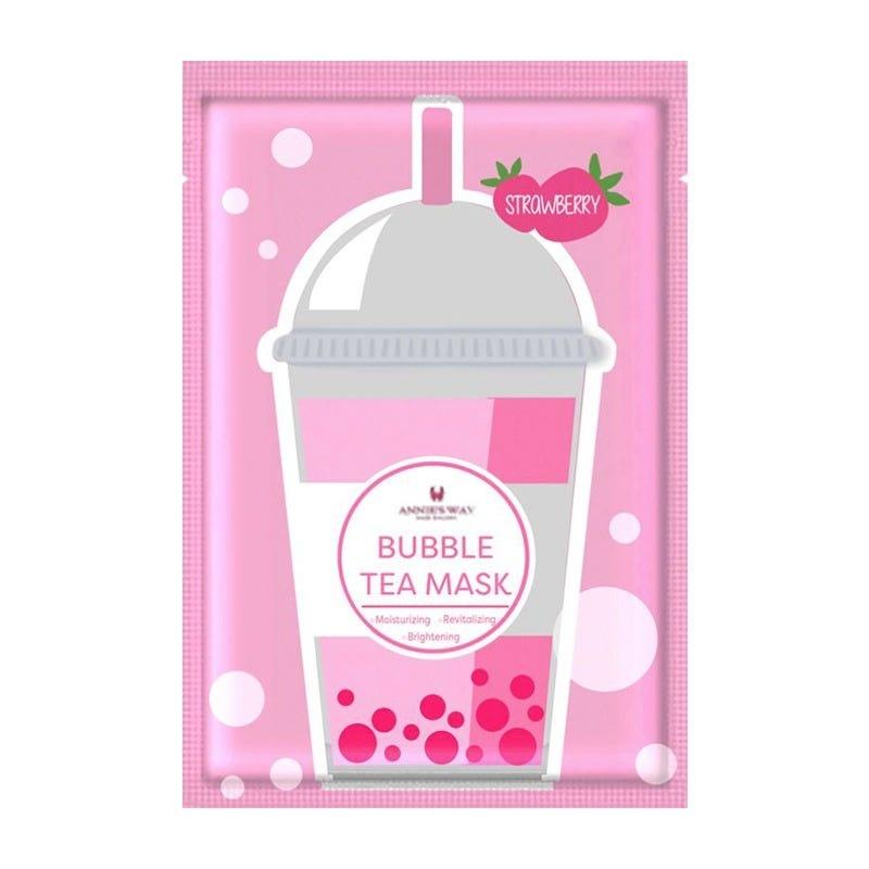 Strawberry Bubble Tea Invisible Silk Mask-1