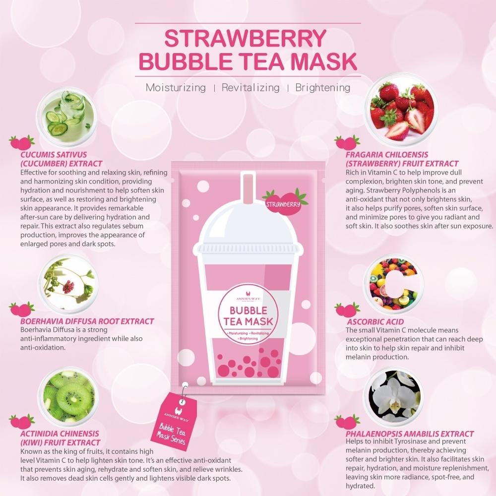 Strawberry Bubble Tea Invisible Silk Mask-3