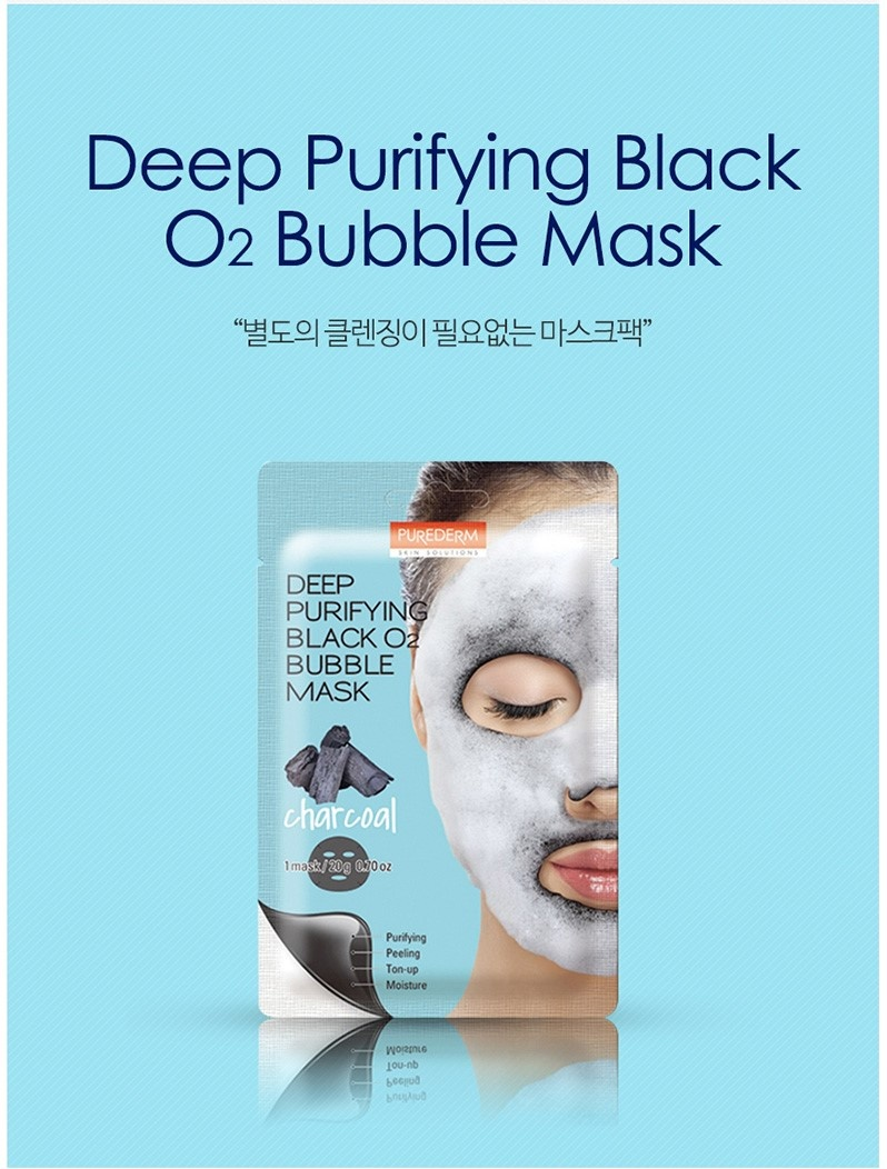 Deep Purifying Black O2 Bubble Mask (Charcoal)-2