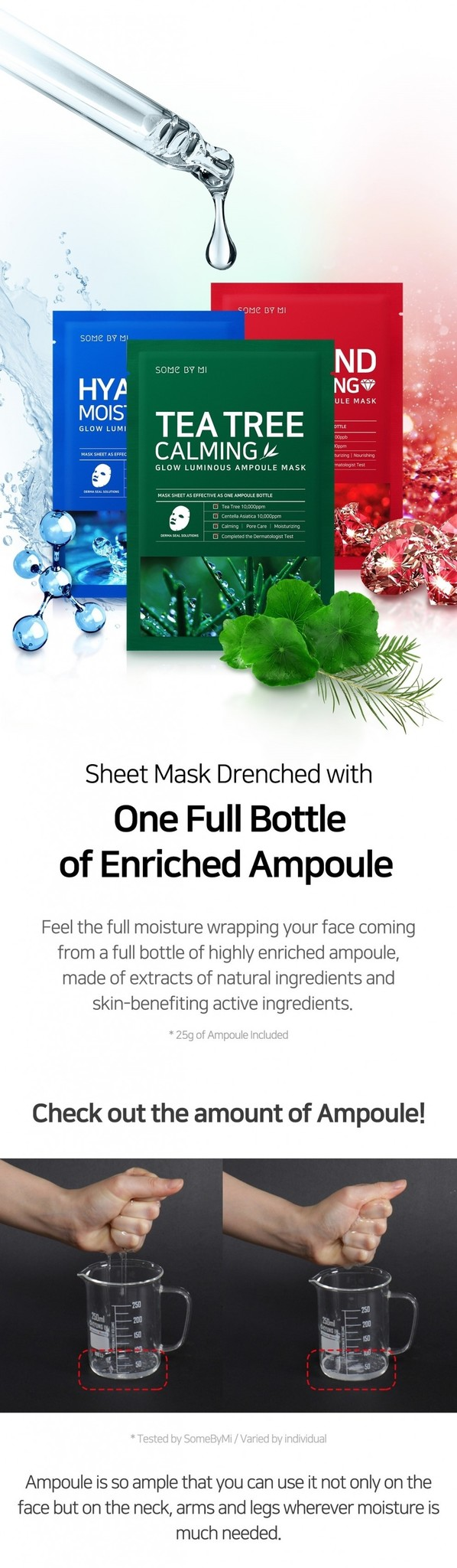 Tea Tree Calming Glow Luminous Ampoule Mask-3