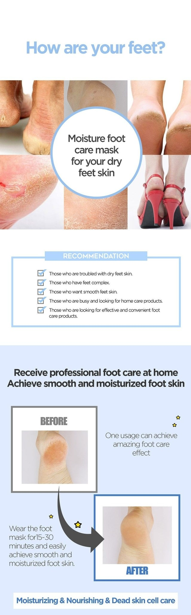 Self Aesthetic Soft Foot Mask-5