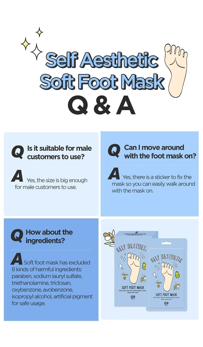 Self Aesthetic Soft Foot Mask-7