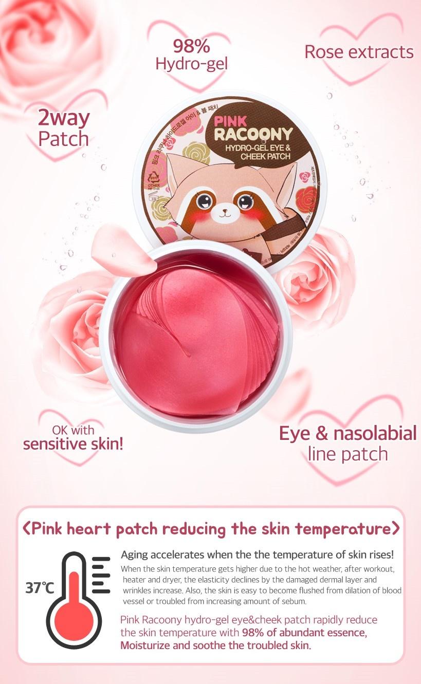 Pink Racoony Hydro-gel Eye & Cheek Patch-3
