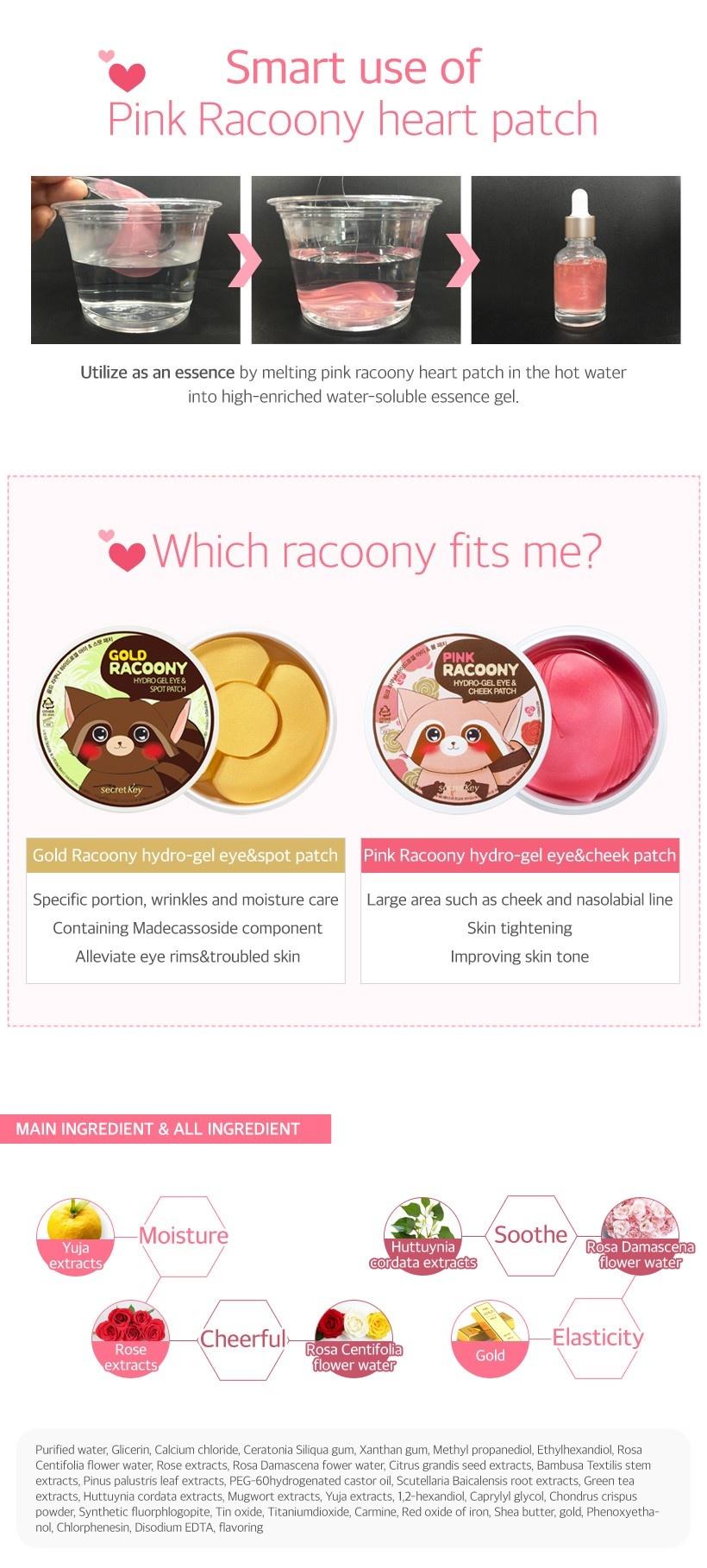 Pink Racoony Hydro-gel Eye & Cheek Patch-7