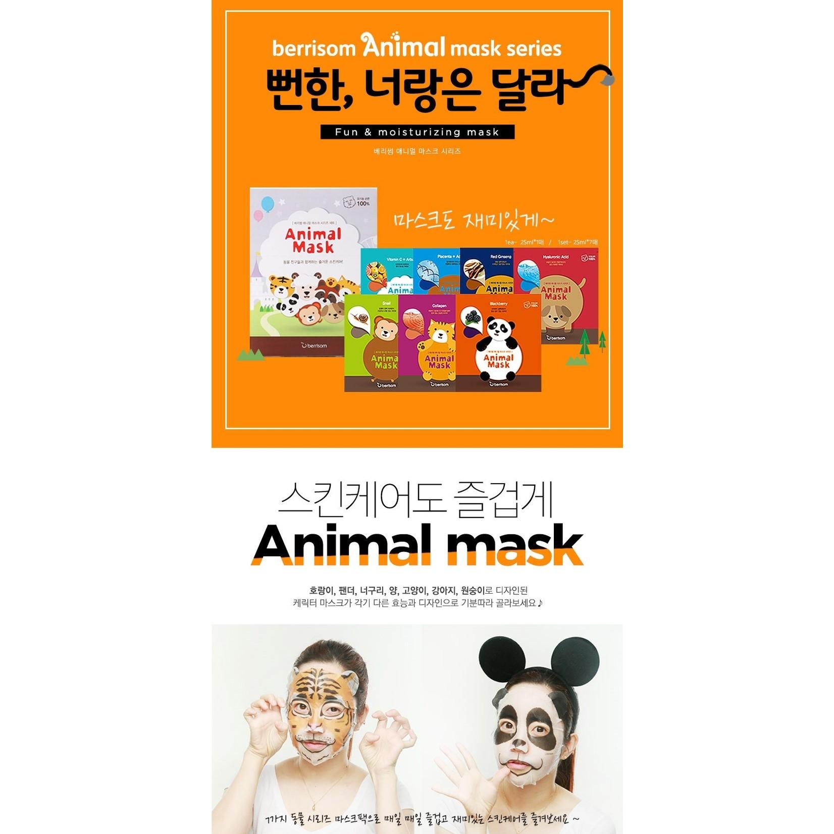 berrisom Animal Mask Multi Set (7 pcs)