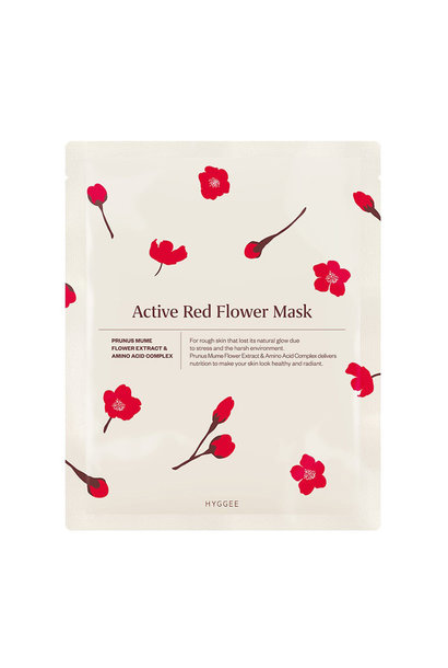 Active Red Flower Mask