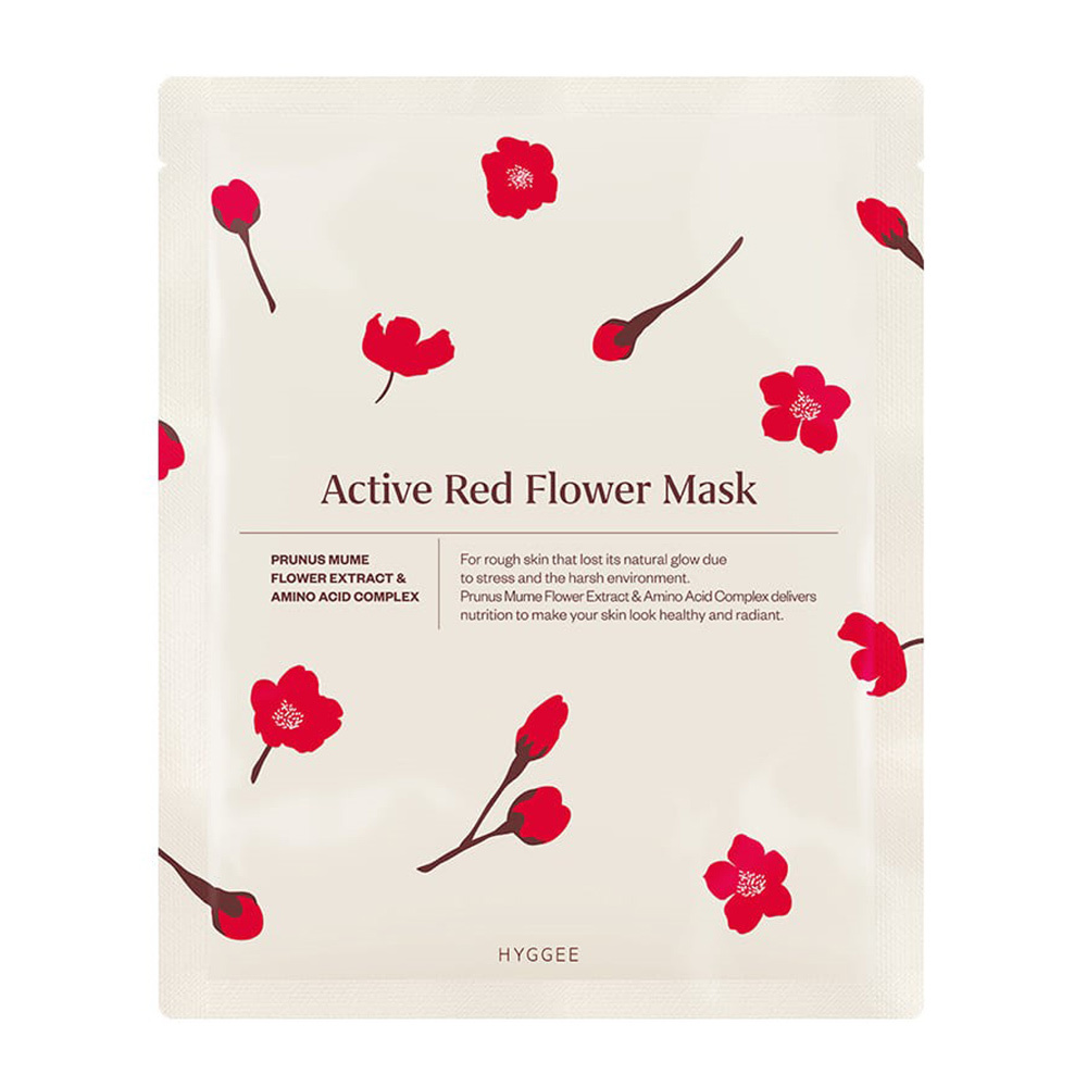 Active Red Flower Mask-1