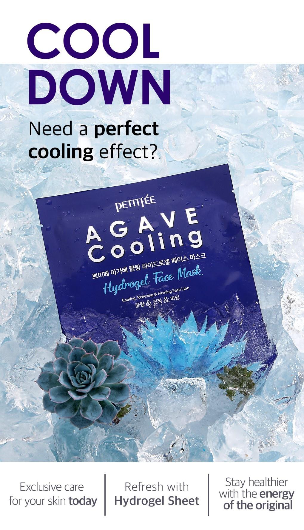 Agave Cooling Hydrogel Maske-4