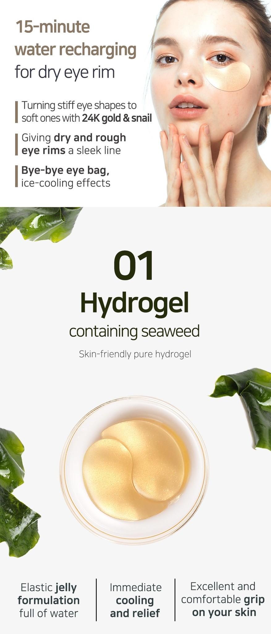 Gold & Snail Hydrogel Eye Patch-3
