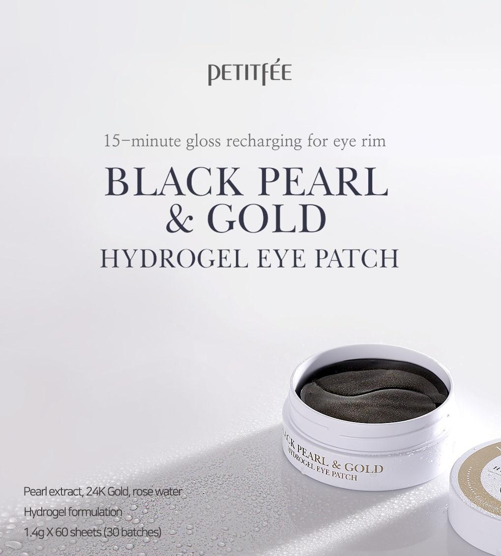 Black Pearl & Gold Eye Patch-2