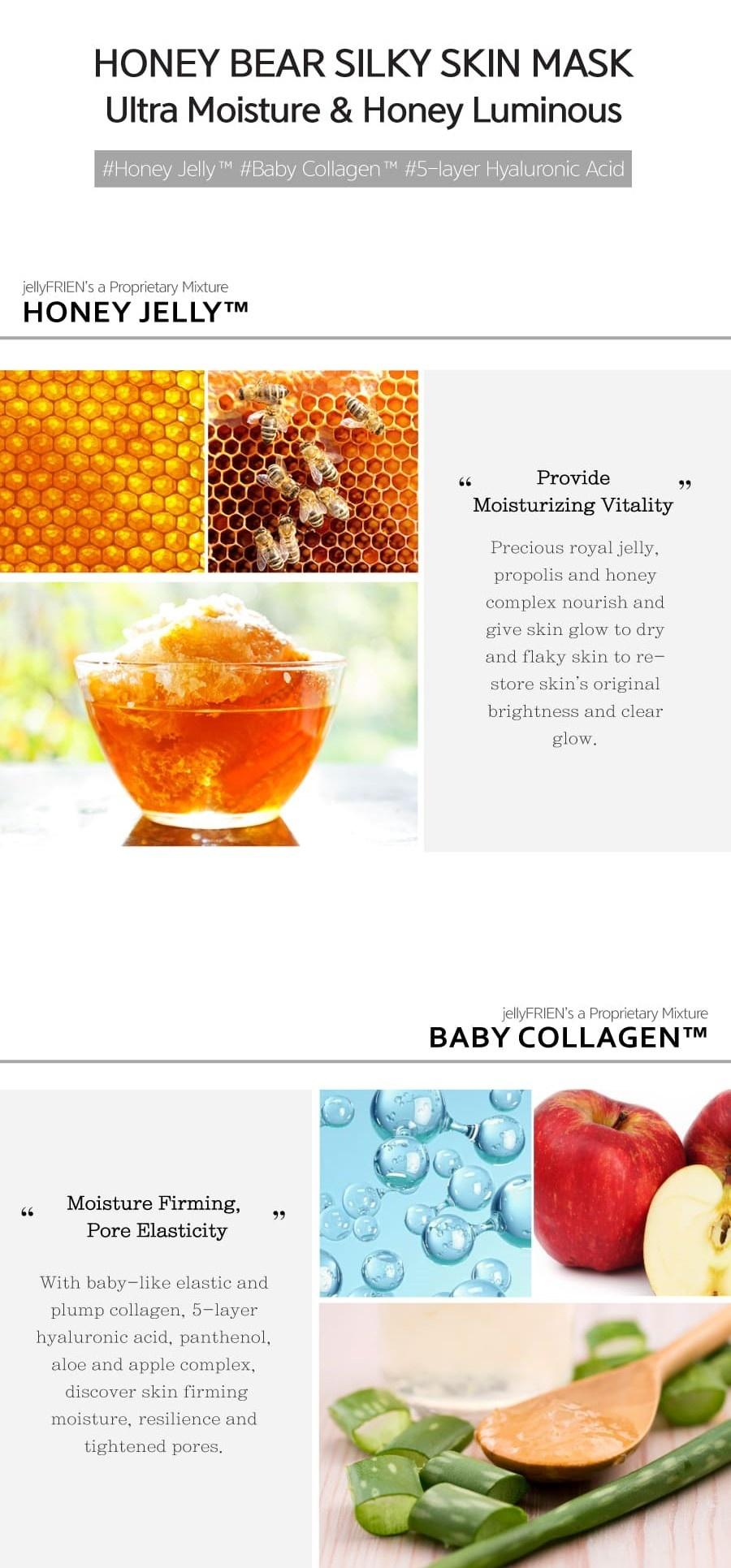 Honey Bear Silky Skin Mask-4