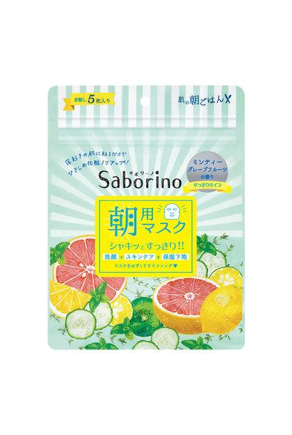 Saborino Morning Mask Grapefruit (5 pcs)