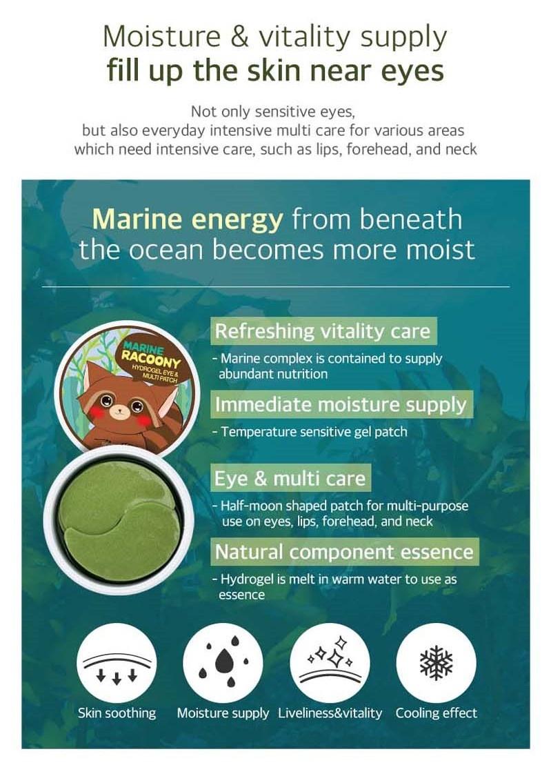 Marine Racoony Hydrogel Eye & Multi Patch-3