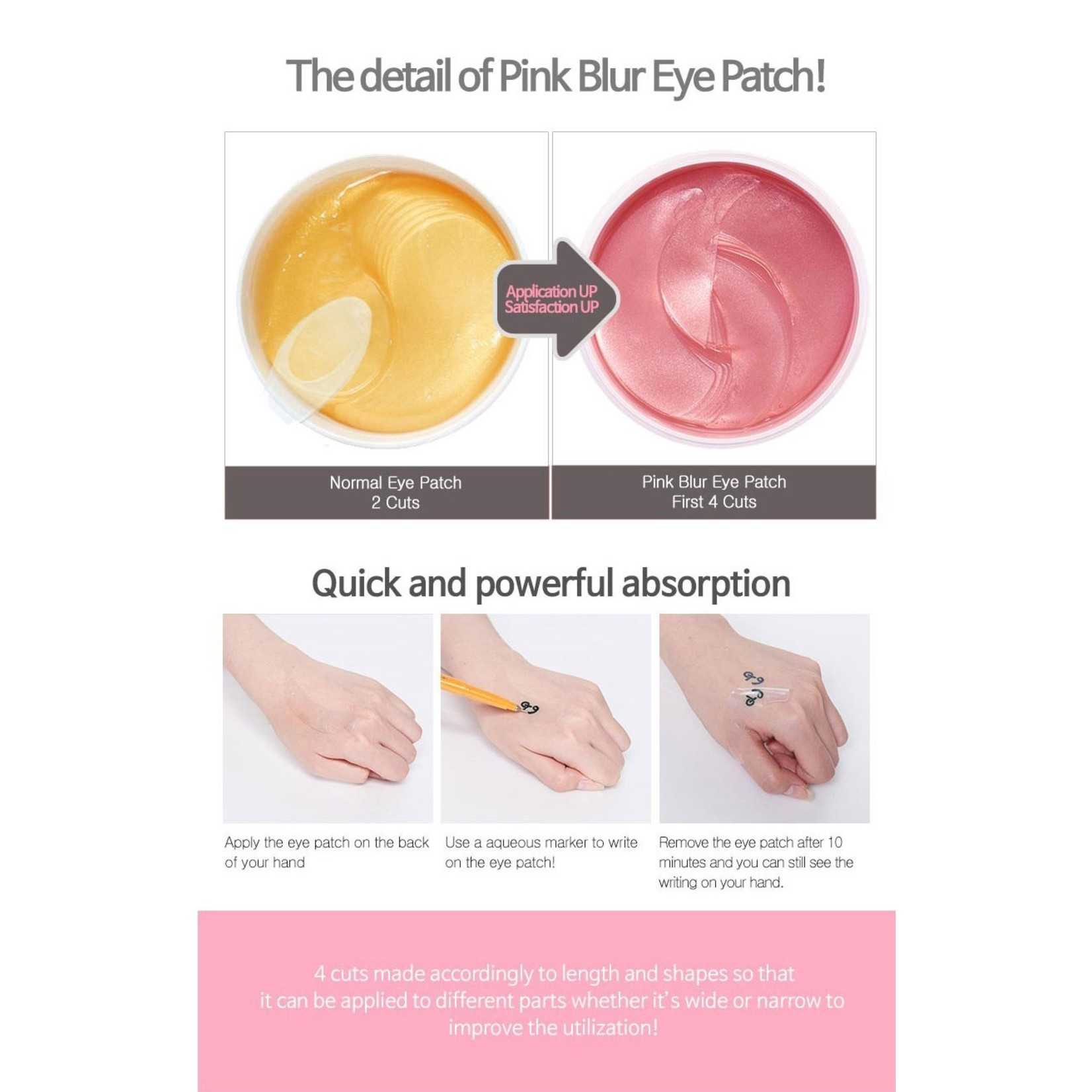 G9SKIN Pink Blur Hydrogel Eye Patch