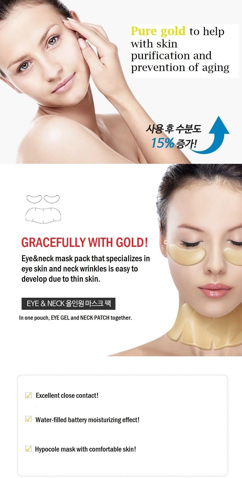 Eye & Neck Hydro Gold Gel Mask-4