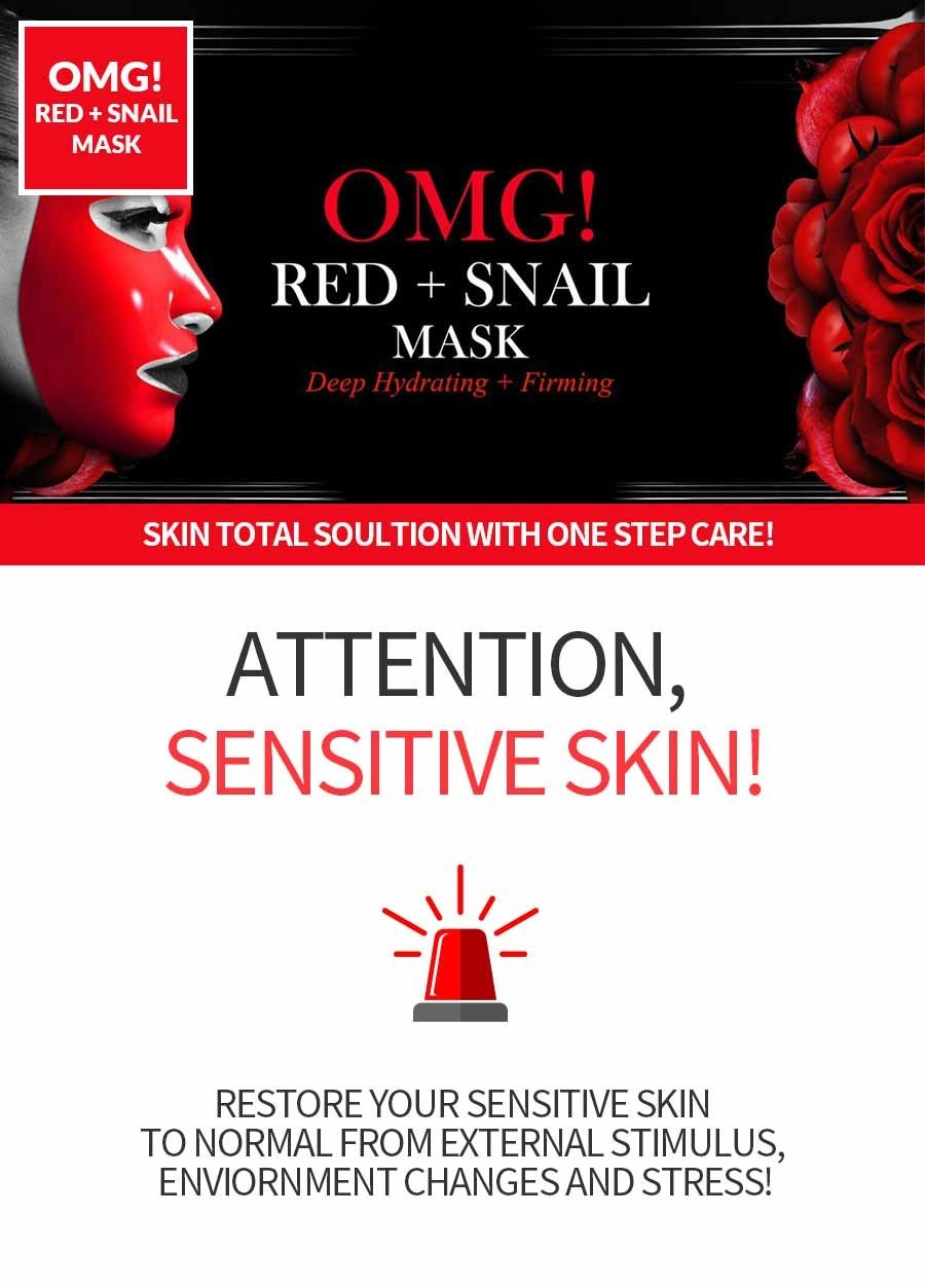 OMG! Red + Snail Mask Sheet-2