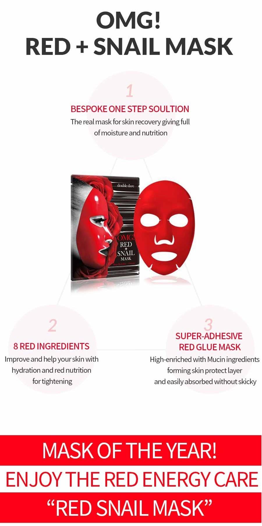 OMG! Red + Snail Mask Sheet-4