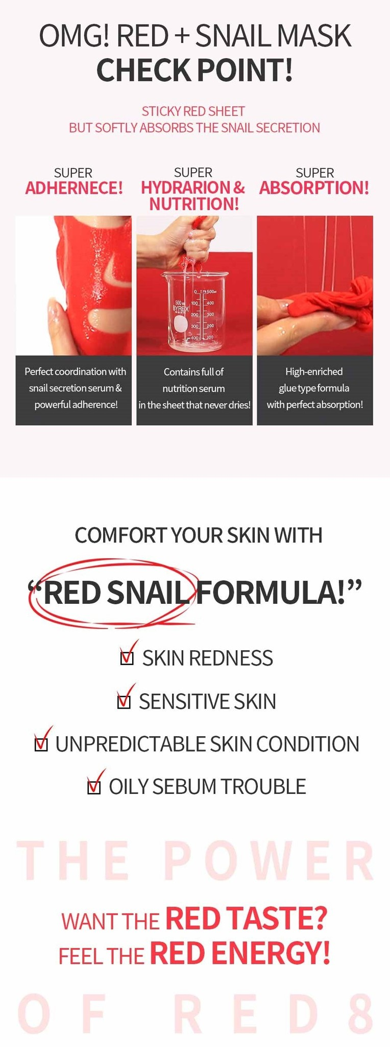 OMG! Red + Snail Mask Sheet-5