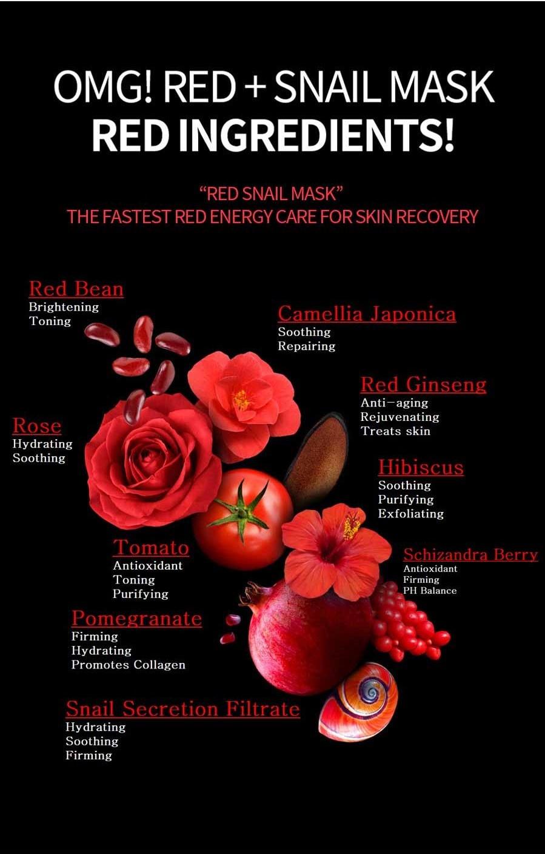 OMG! Red + Snail Mask Sheet-6