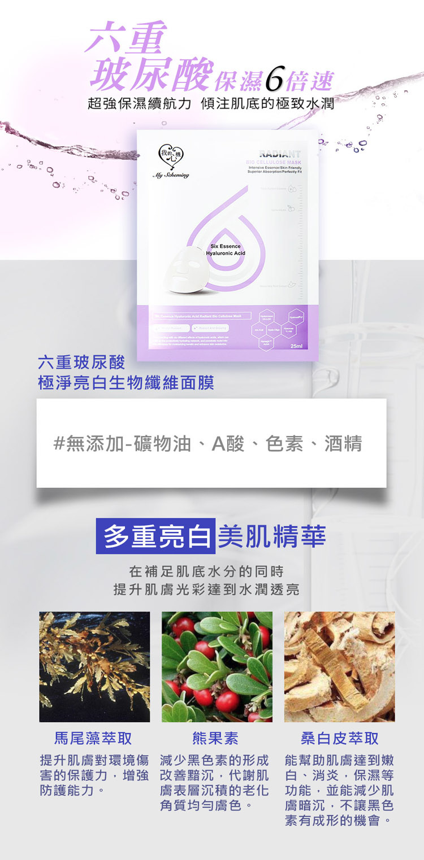 Six Essence Bio-Cellulose Mask Trial Mix (2 pcs)-4