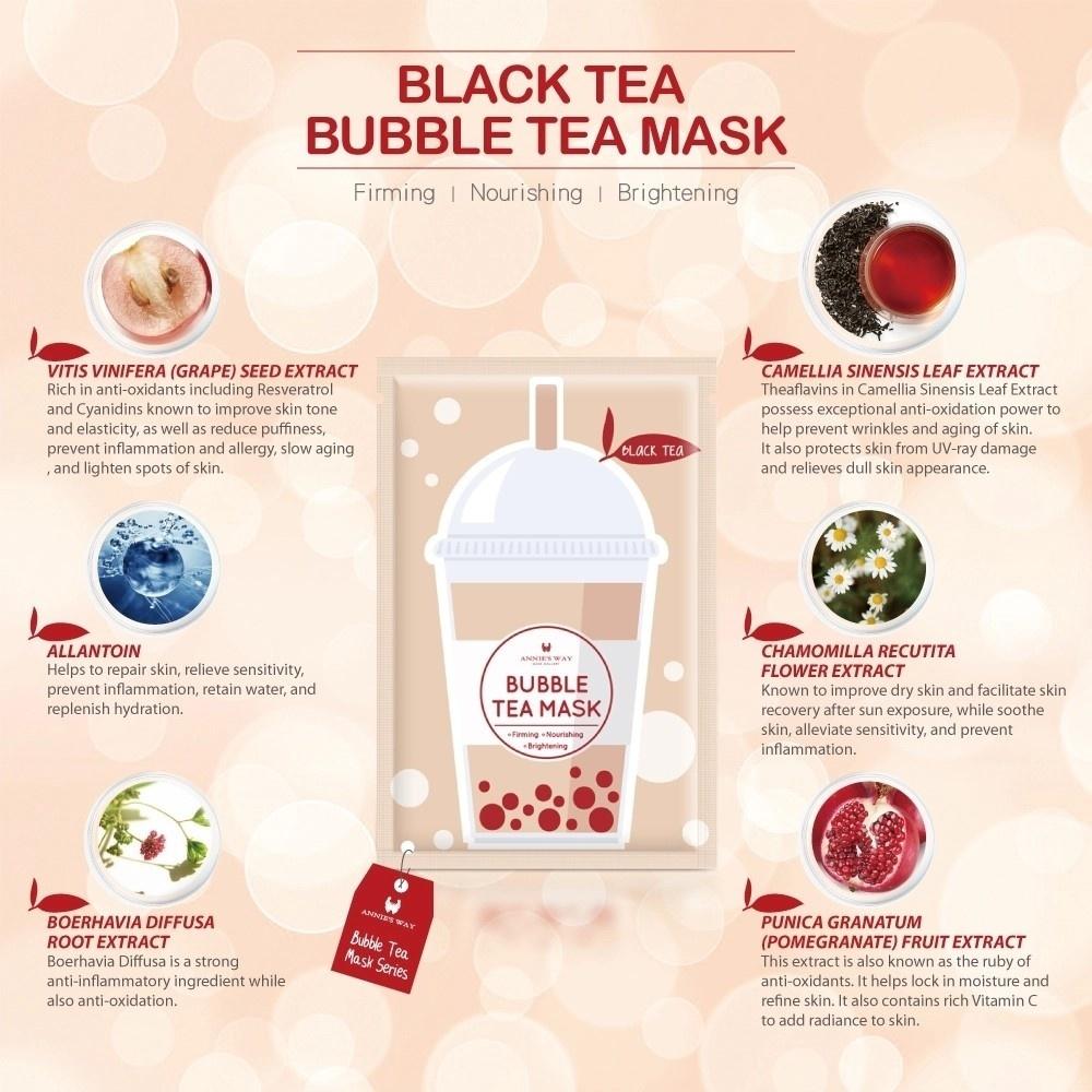 Bubble Tea Silk Mask Trial Mix (4 pcs)-4