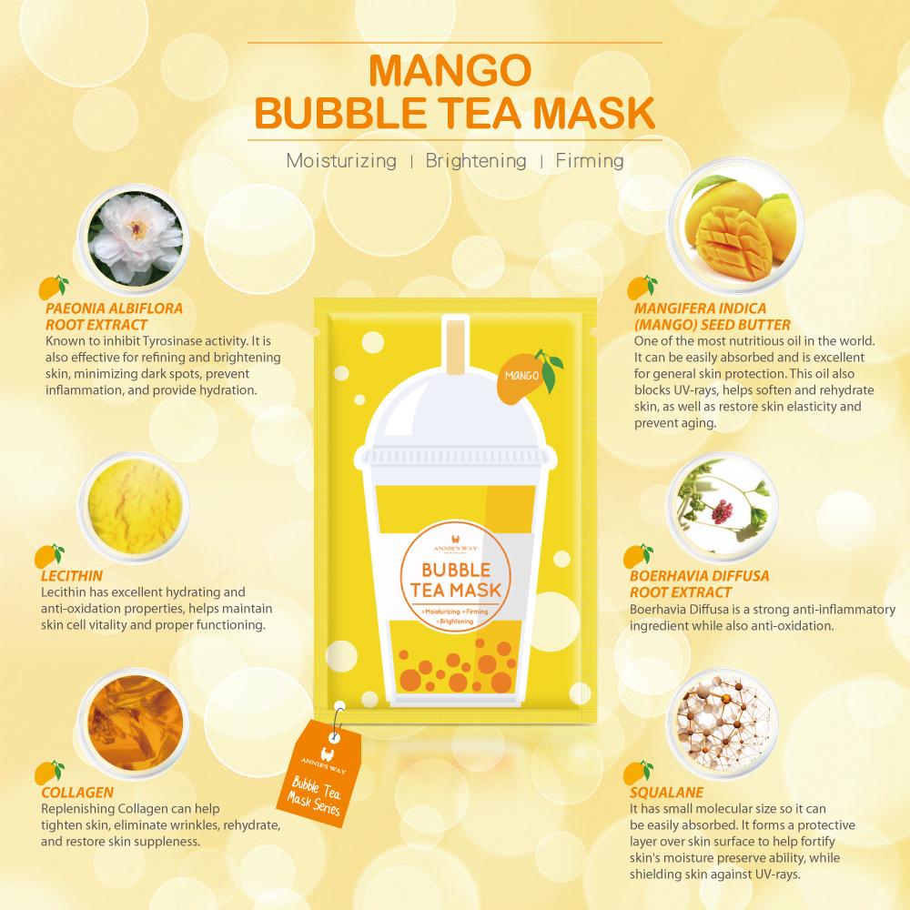 Bubble Tea Silk Mask Trial Mix (4 pcs)-2
