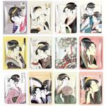 MITOMO UKYIO-E Japanische Tuchmasken Probierset (12 Stk)