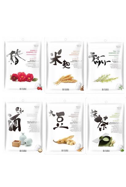 URUURU Japanese Sheet Mask Trial Mix (6 pcs)