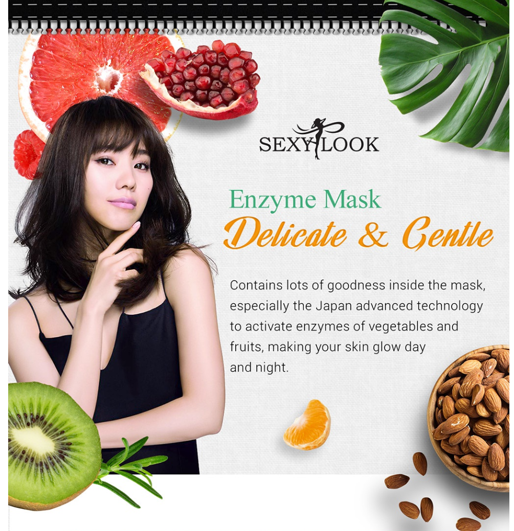 Enzyme Whitening Facial Mask-4