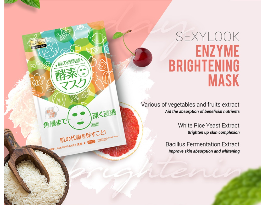 Enzyme Brightening Facial Mask-5