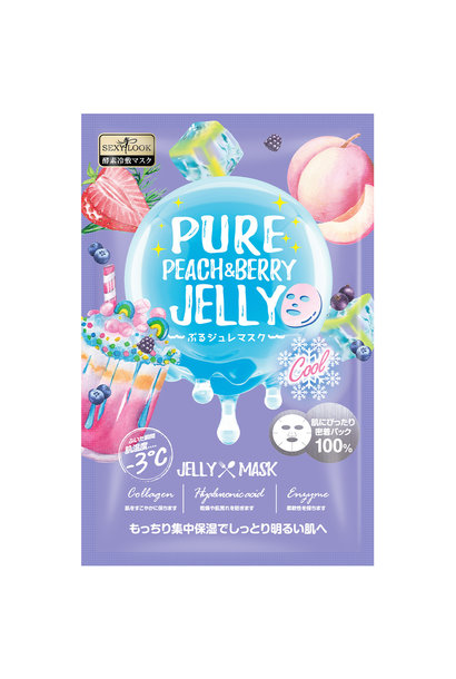 Pure Peach & Berry Brightening Cool Jelly Mask