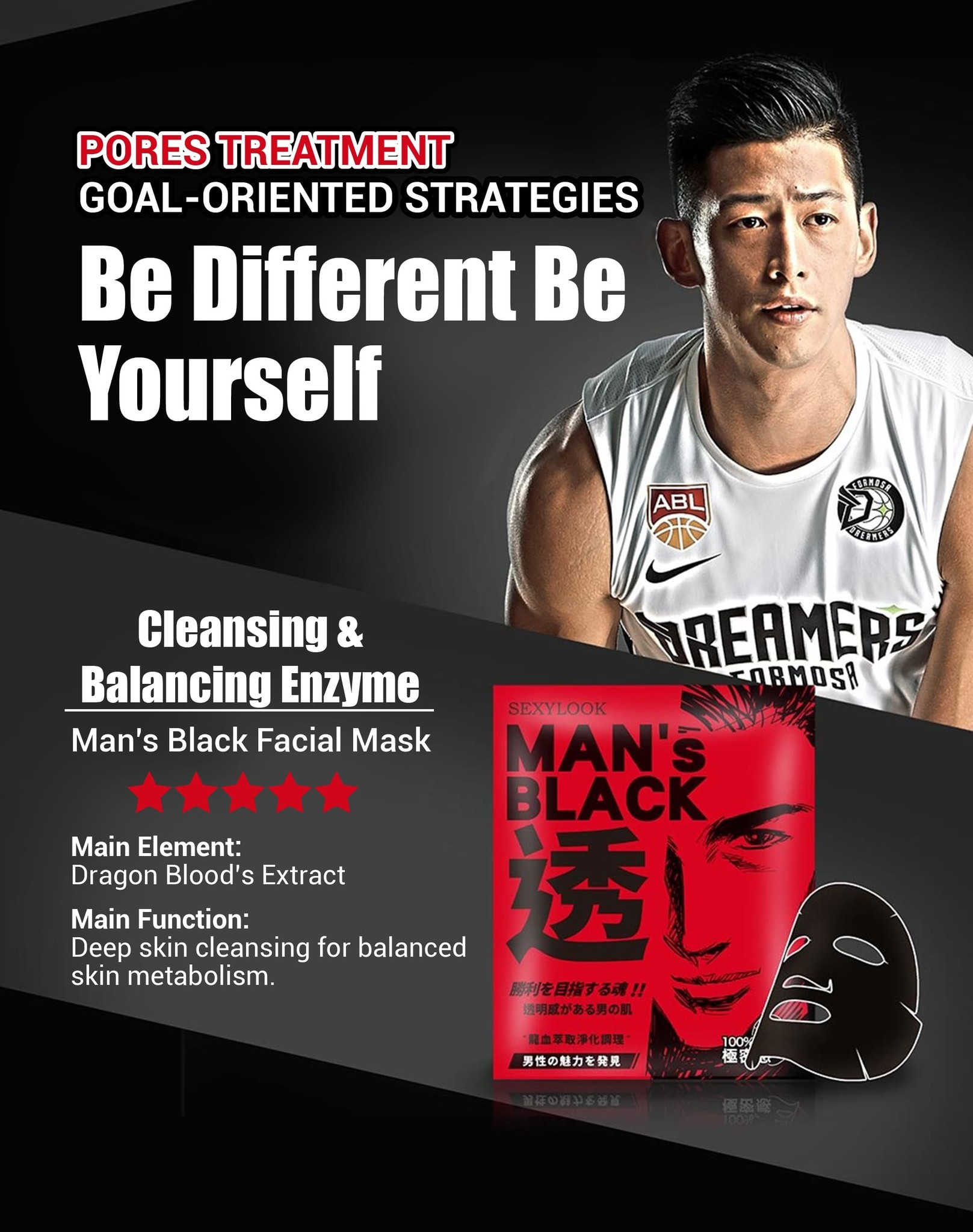 Enzyme Purification Conditioning Man's Black Mask-3
