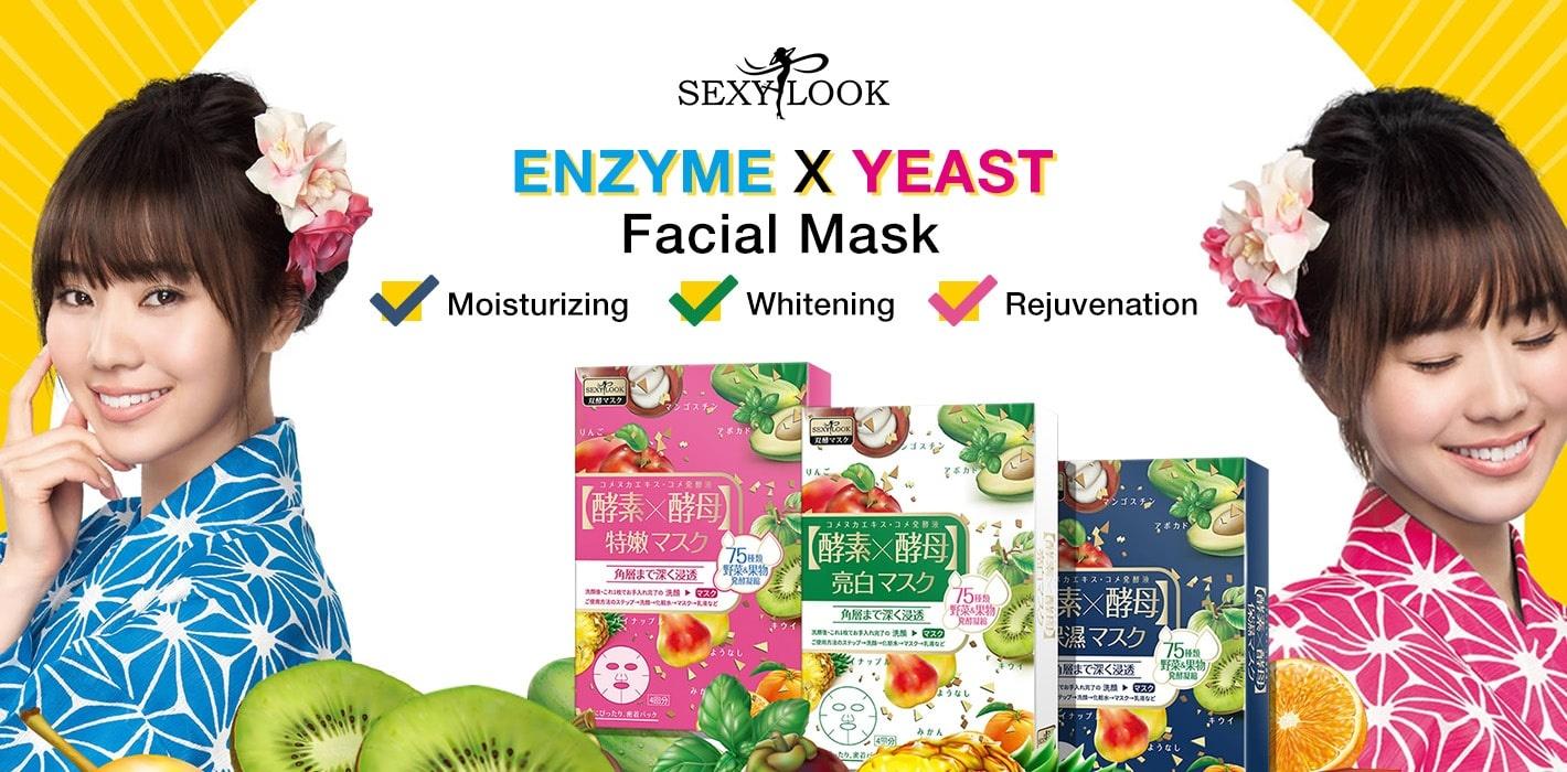Enzyme X Yeast Whitening Mask-2