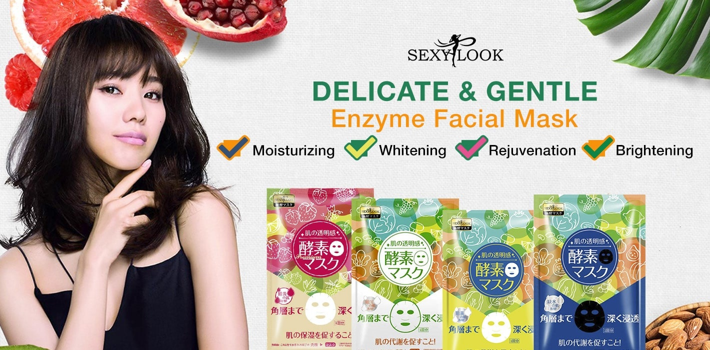 Enzyme Whitening Facial Mask-2