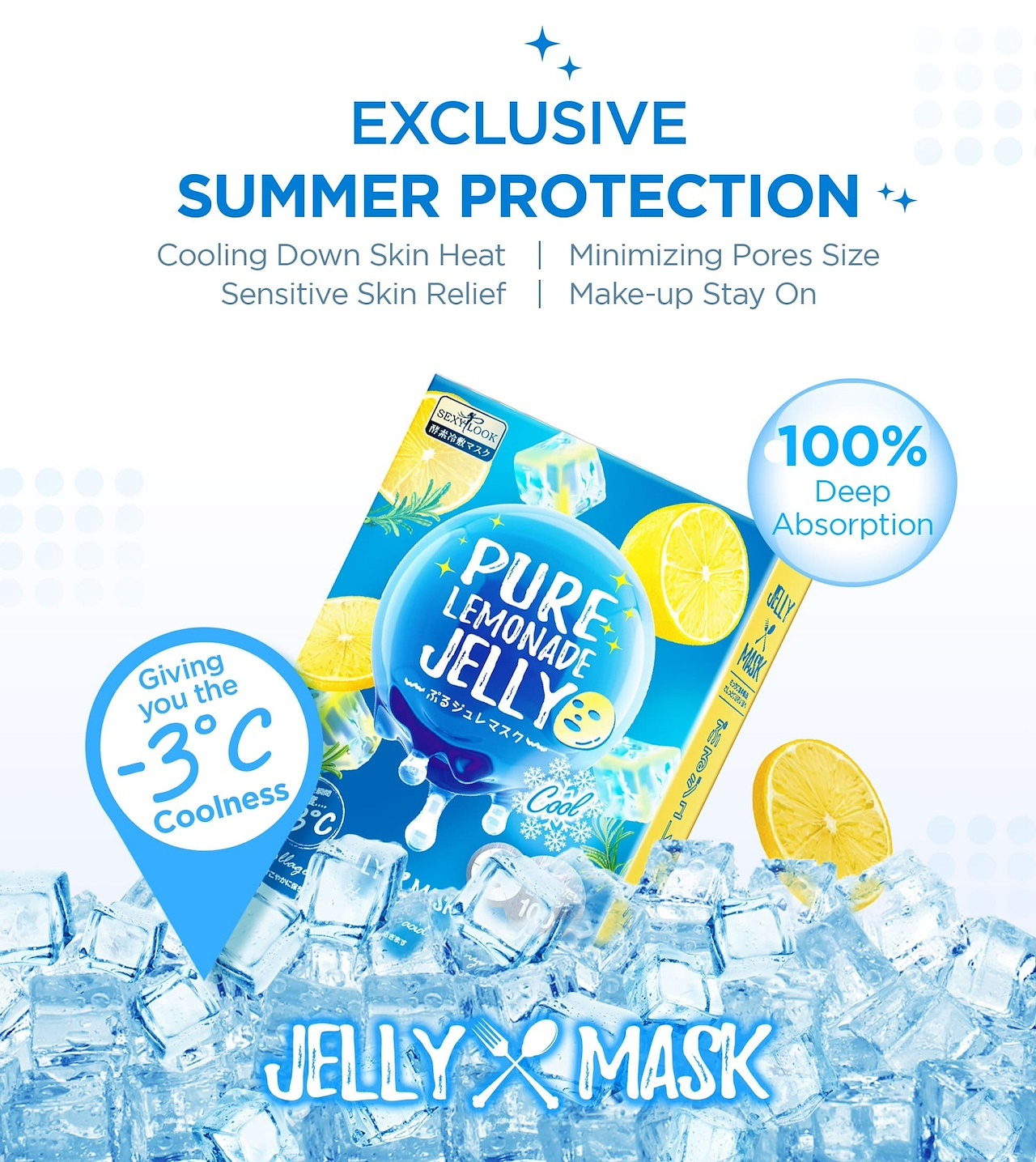 Pure Cool Jelly Mask Trial Mix (3 pcs)-4