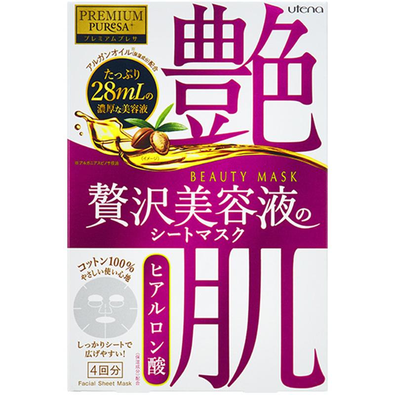 Premium Puresa Hyaluronic Acid Beauty Mask (4 pcs)-1