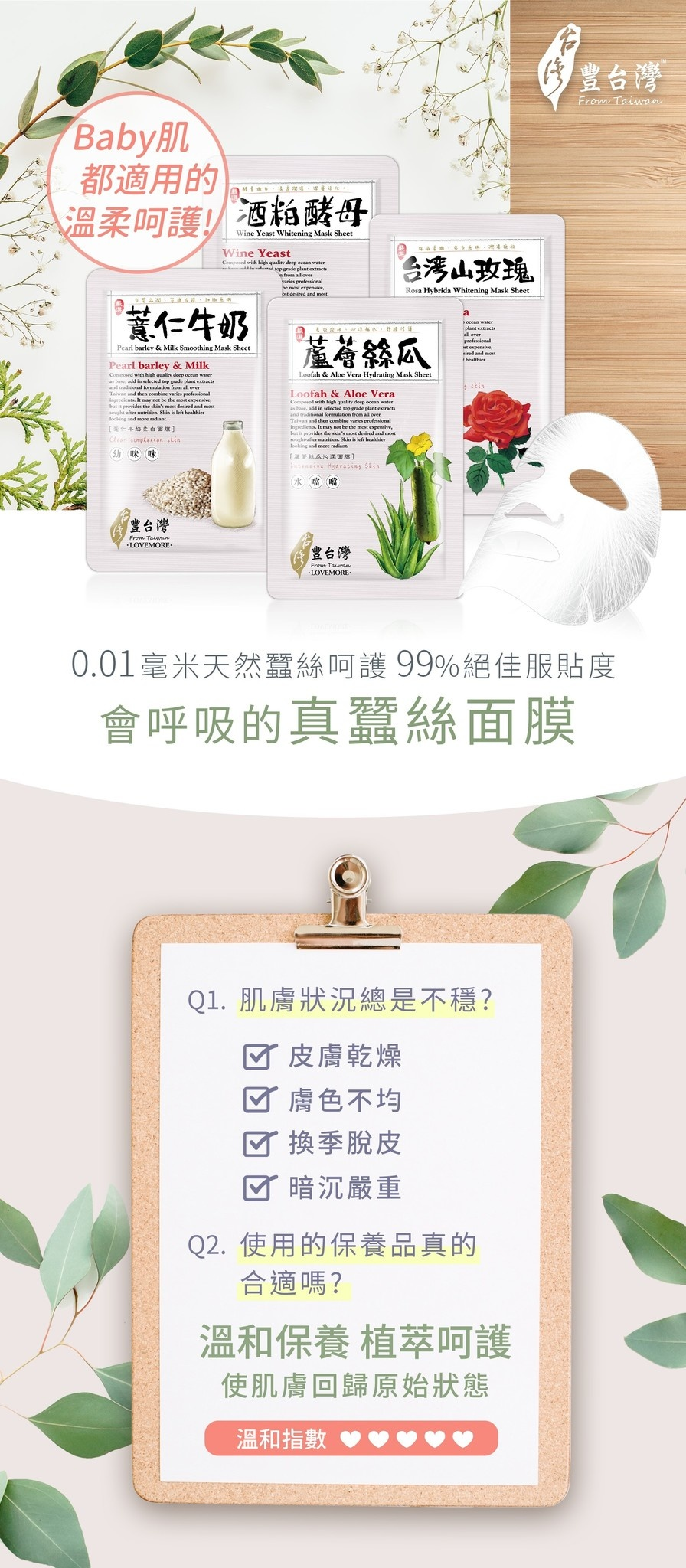 From Taiwan Sheet Mask Trial Mix (5 pcs)-2